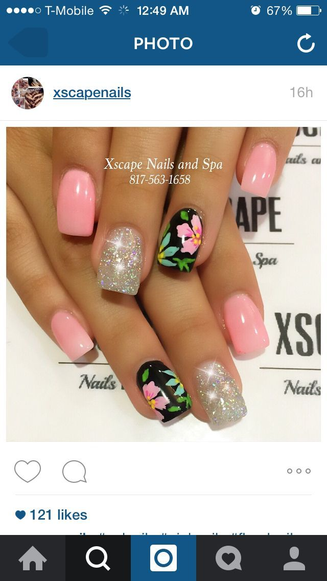 Tropical nails #summervacationnails