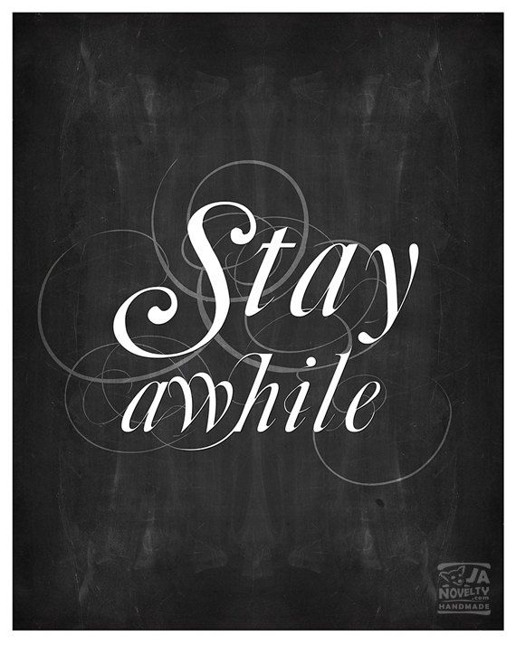 Stay Awhile Printable Poster Affiche scandinave by JAnoveltyDeSign