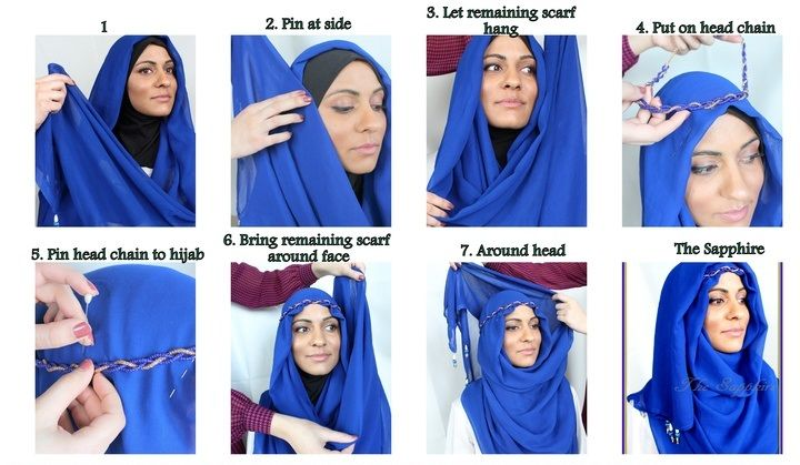 How to Wear Hijab With Headband-Picture Tutorial