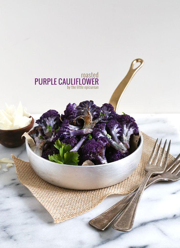 Roasted Purple Cauliflower by The Little Epicurean