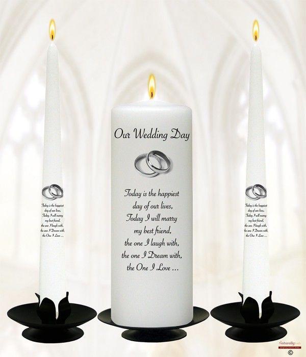 Elegant Silver Rings Wedding Candles