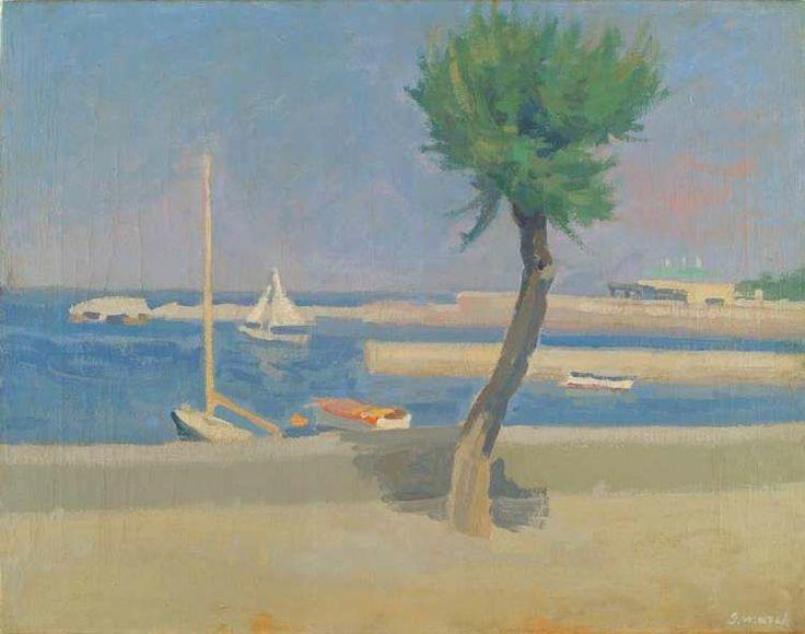 Giovanni March Lungomare olio su tela  cm 55x70