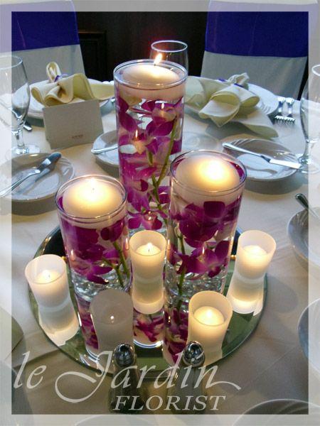 beah Wedding Table Flowers orchids   Wedding Florist   Palm Beach Wedding Flowers by Le Jardin Florist