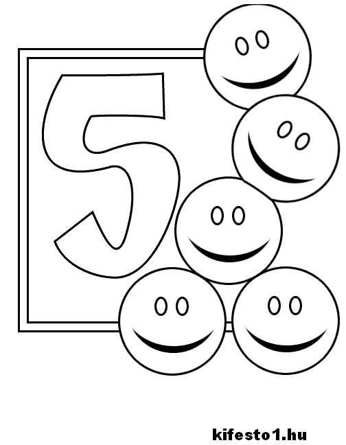 számos 6 kifestő nyomtatható