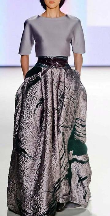 Carolina Herrera. The skirt in particular. Wow