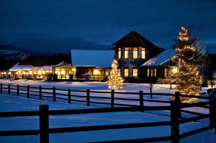 Montana Christmas Vacation Resorts - The Resort at Paws Up