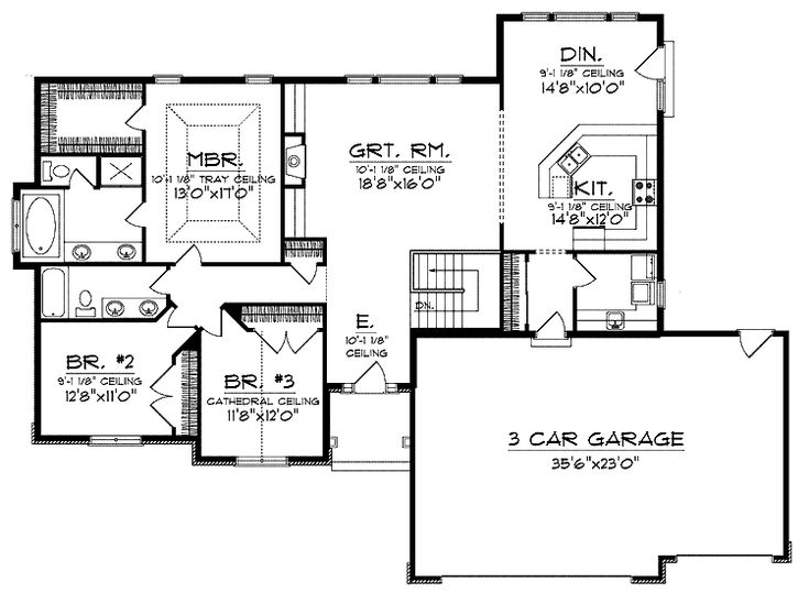 ranch style open floor plans with basement house plans On open ranch floor plans with basement