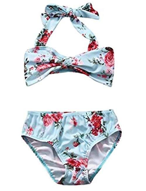 3db955861da94 Conjunto bebé niña ❤ Amlaiworld Traje de baño floral del arco Bebé Niña  Bikini de baño con correas Tankini Bañadores Ropa de playa conjuntos de ropa  6 ...