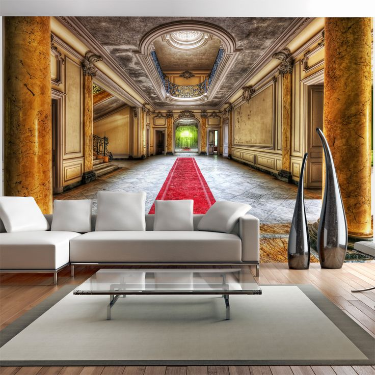 How to optically magnify the interior? Try wallpapers with 3D effect!