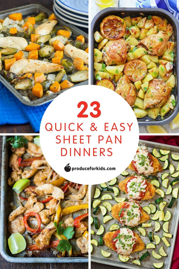23 Quick and Easy Sheet Pan Dinners - sheet pan dinners are the perfect dinner for busy nights! @produceforkids