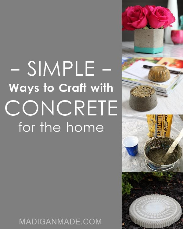 90 best cool concrete crafts for our new house images on for Craft cement mix