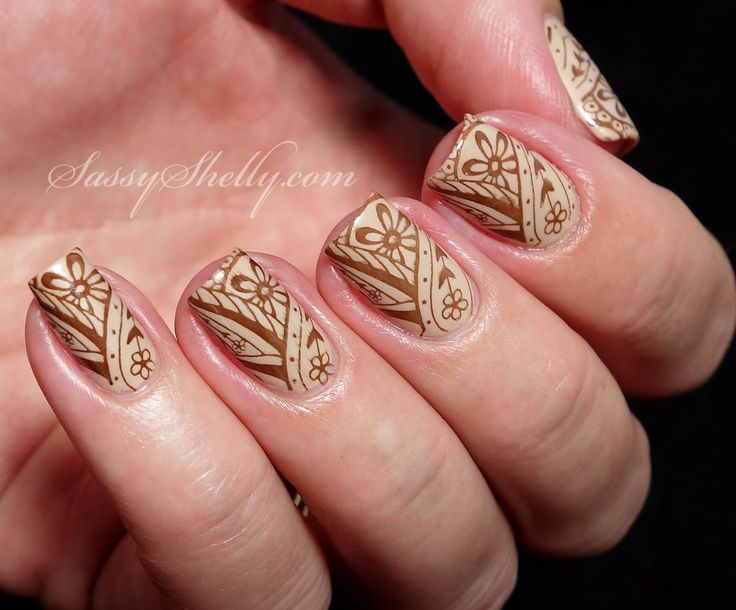 """India inspired Henna Nails for The Digit-al Dozen """"countries"""" nail art challenge     Sassy Shelly"""