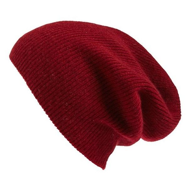 Women's Halogen Slouchy Cashmere Beanie ($45) ❤ liked on Polyvore featuring accessories, hats, red cordovan, beanie cap hat, red beanie, beanie cap, red hat and slouch beanie hats