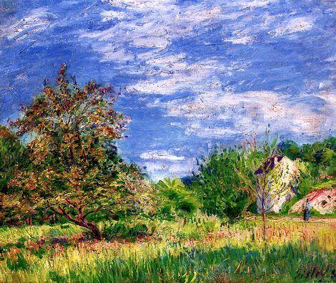 Alfred Sisley, Orchard in Spring   on ArtStack #alfred-sisley #art