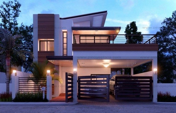 Modern Home Design 10x11m With 4 Bedrooms Home Design With Plansearch Duplex House Design Small House Design 2 Storey House Design