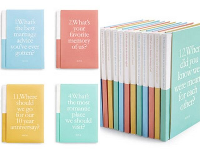 Cute single question notebooks to place at every table for guest to fill out.