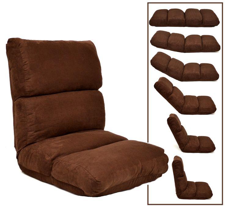Relax Chill Lounge Polster Liege Klappliege Chaiselounge Sessel Braun Microfaser   eBay