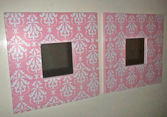 Small Wall Mirrors Nursery Room Shabby Chic Pink and White