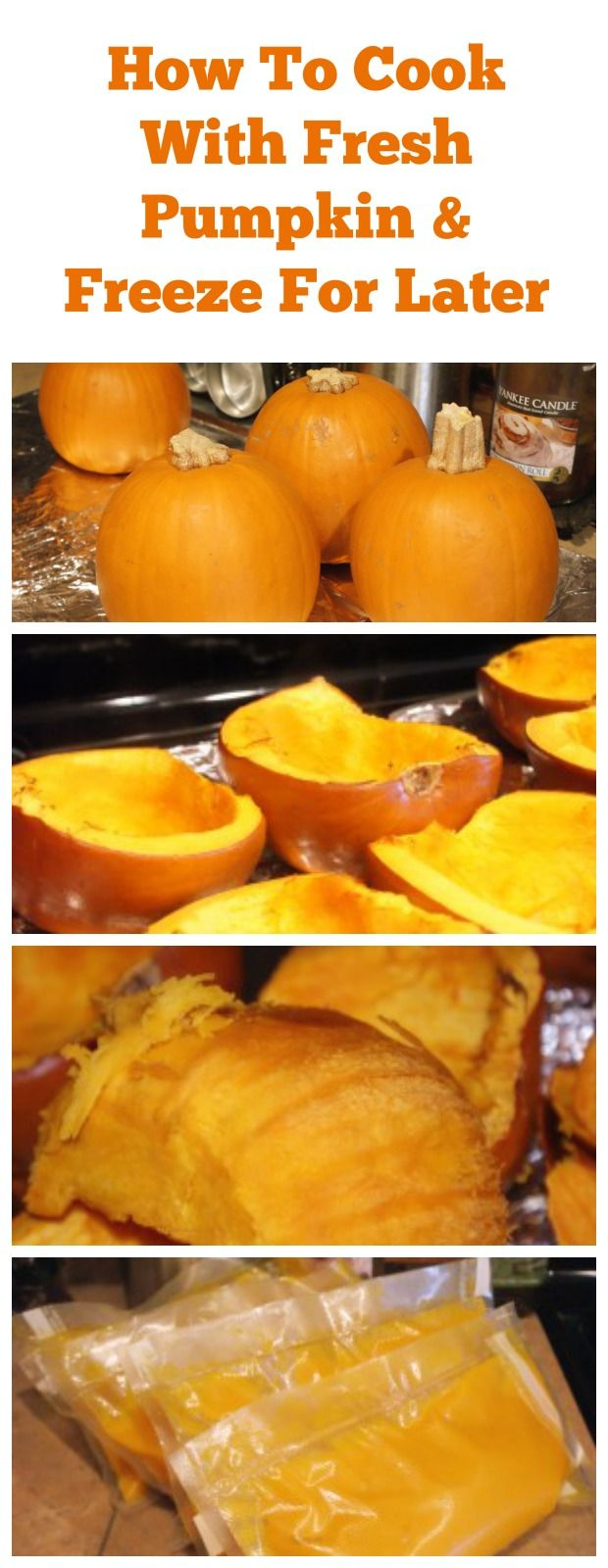 This is an easy tutorial on How to Freeze & How to Can Fresh Pumpkin with pumpkin pie pumpkins. It's easy and a great way to use fresh pumpkin in your recipes!