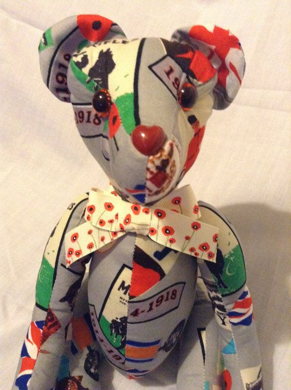 Tommy The Remembrance Bear by SewingSunbeams on Etsy