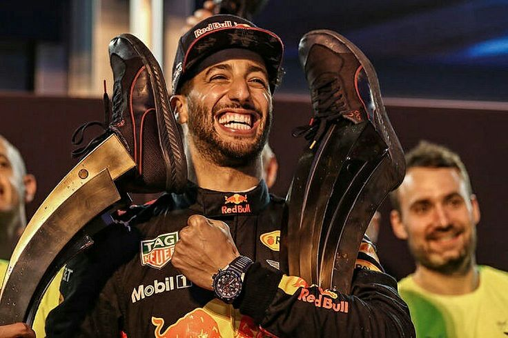 2017 Azerbaijan GP - Red Bull's Daniel Ricciardo drank champagne from his race boots and took home the trophy while the world championship leaders were arguing over their game of bumper cars on the narrow streets of Baku.