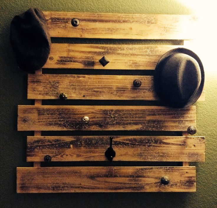 Hat rack & Coat rack. Semi homemade.