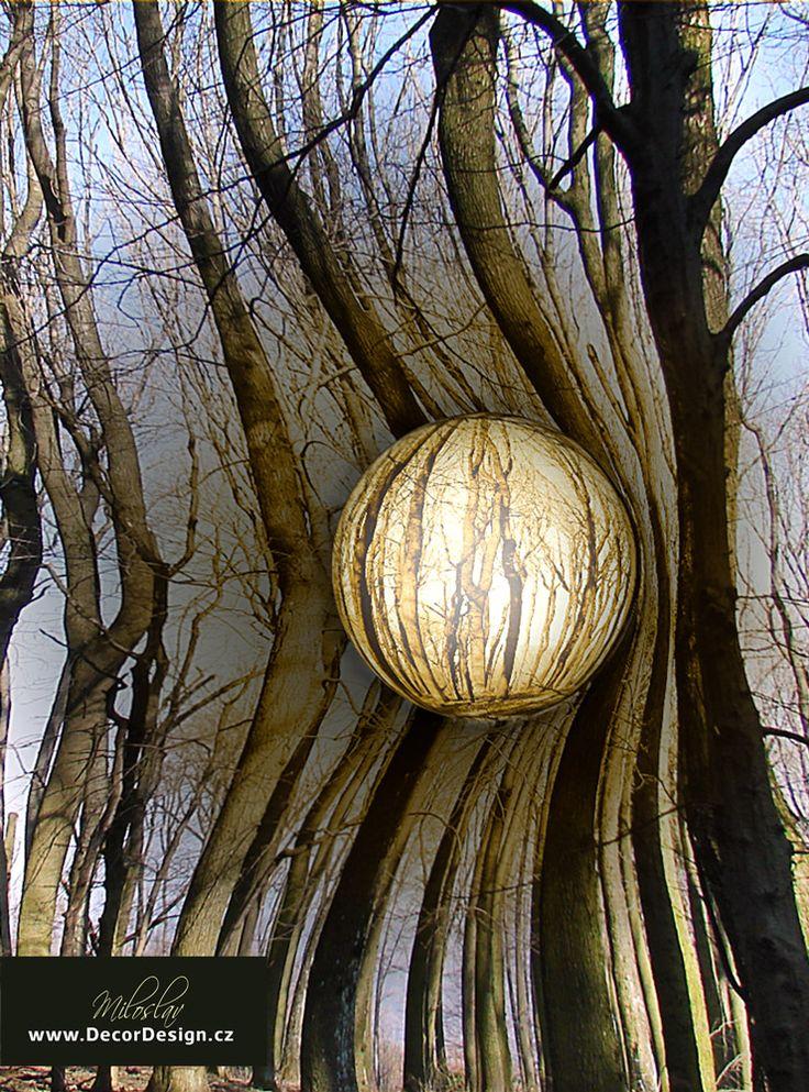 "#wallart ""Forest sphere"" graphic file for digital print: http://decordesign.cz/en/aktuality/38.html"