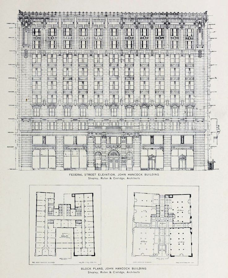 98 best blueprints schematics images on pinterest architecture elevation and plans for the john hancock building malvernweather Image collections