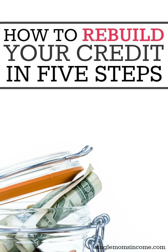 Even if your credit score is low it can be fixed. Here's how to rebuild your credit in five simple steps.