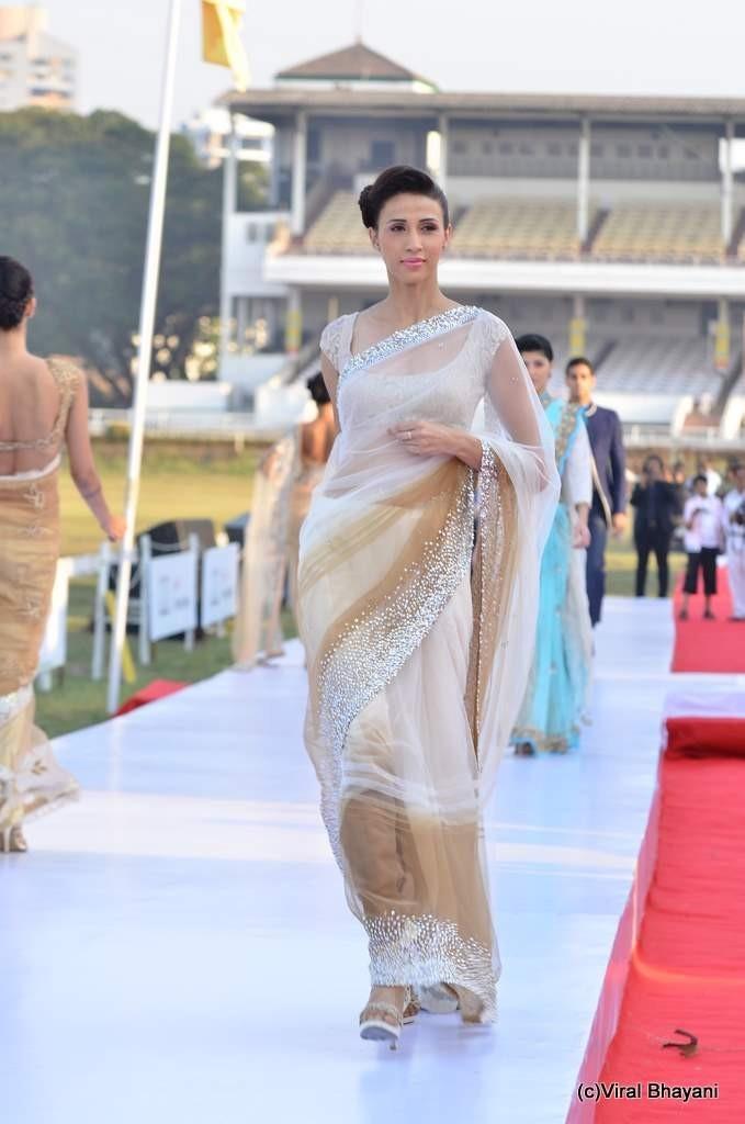 beige sari