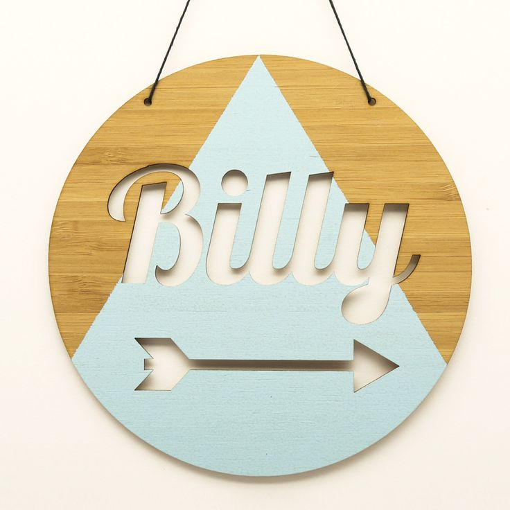 ROUND CUSTOMISED NAME PLAQUE Just need to pick a name! Coral triangle, arrow