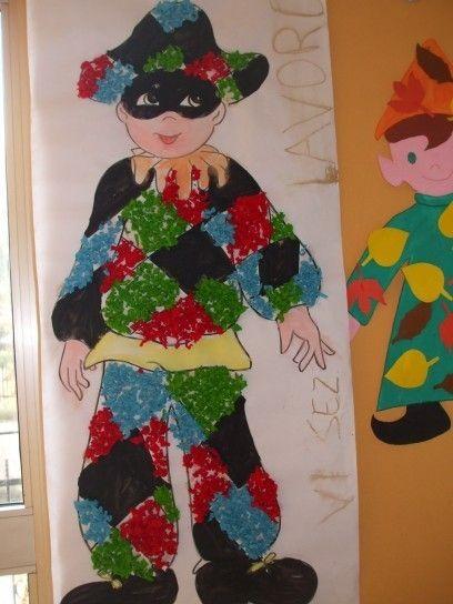 Arlecchino per bambini - I disegni da colorare sono tra i lavoretti più semplici per bambini.