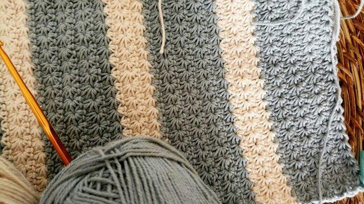 Punto estrella crochet