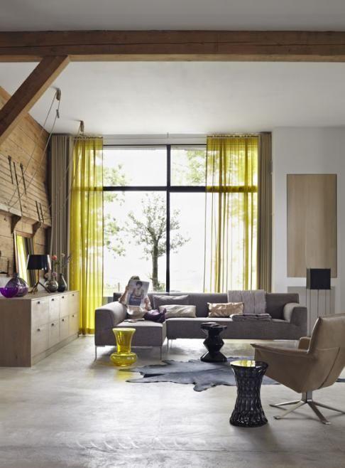mooi gordijnen at koak design gefotografeerd gordijnen pinterest yellow grey and doors. Black Bedroom Furniture Sets. Home Design Ideas
