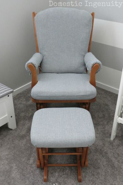 How to re-cover an old glider chair! Easy way to update nursery!