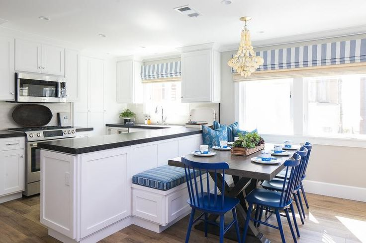 corner bench seating for kitchen cabinet prices dining on back of peninsula   kitchens ...