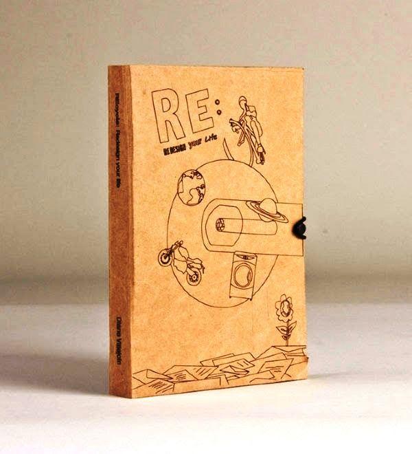 Contoh Desain Gambar Buku Laporan Tahunan - REcycle oleh Diane Villejoin