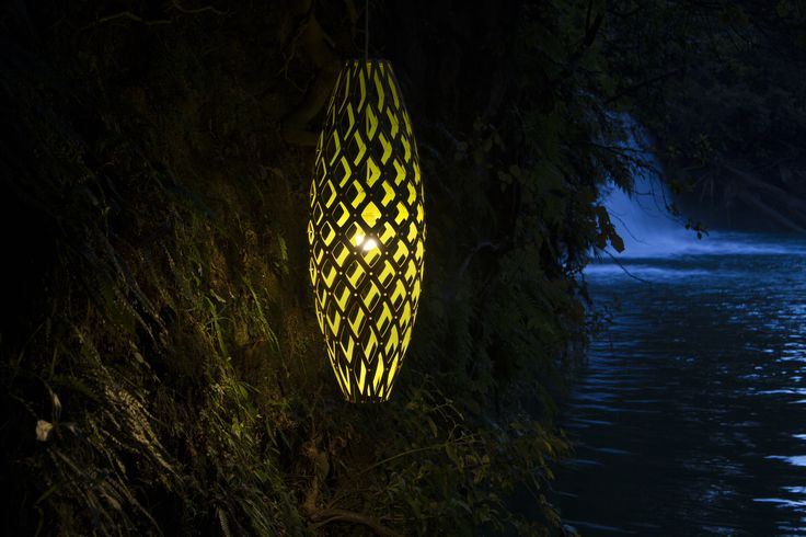 This yellow HInaki pendant light is made from sustainably sourced bamboo. It's also a kitset product, so you can make it at home - or by a river bank...