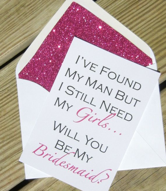Be My Bridesmaid Cards // Fuchsia Glitter by PinkChampagnePaper @Tara Harmon Harmon Sutton