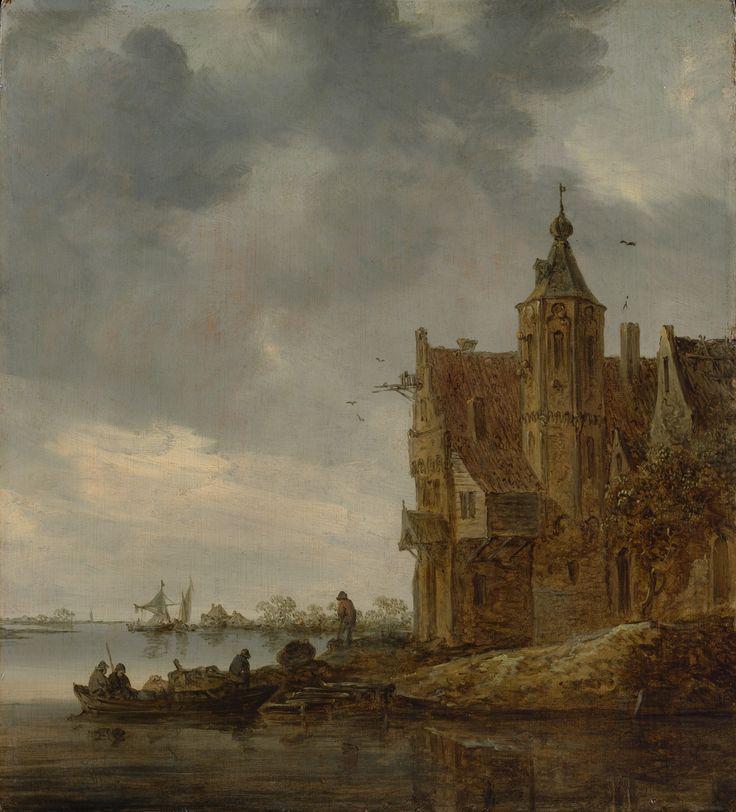 Jan van Goyen - Landhuis aan het water