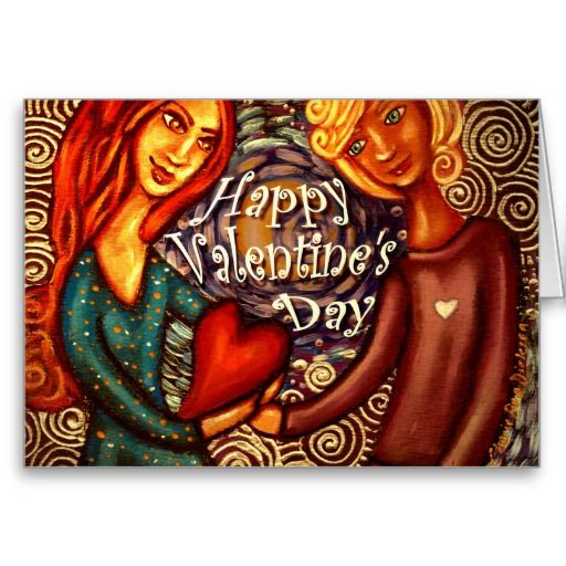 Couple Holding Heart — Happy Valentine's Day Greeting Card #valentinesday #love #couples