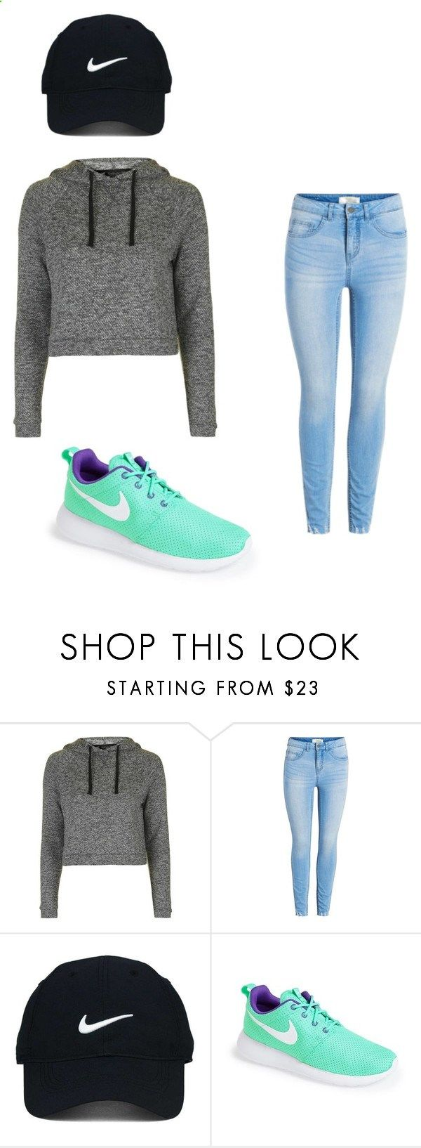 How to wear roshes by diovion-doakes on Polyvore featuring Topshop, Nike Golf and NIKE