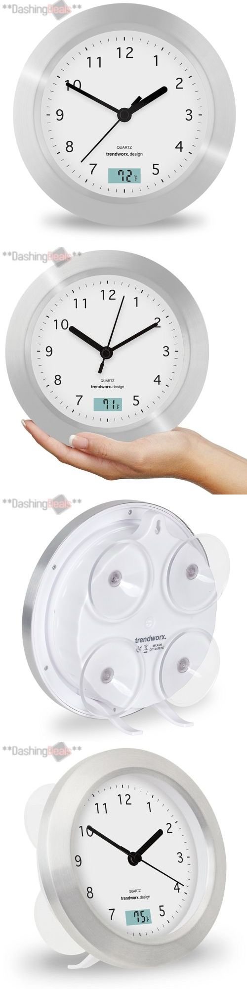 Toothbrush Holders 25453: Bathroom Clock Thermometer Suction Cup Wall Mount White Home Decoration New -> BUY IT NOW ONLY: $30.48 on eBay!