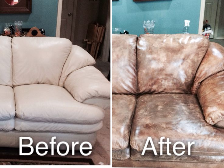 Perfect Painted My White Leather Couch With Pain From Hobby Lobby