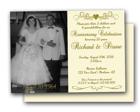 50th Wedding Vow Renewal Invitations: 25+ Best Ideas About Anniversary Party Invitations On