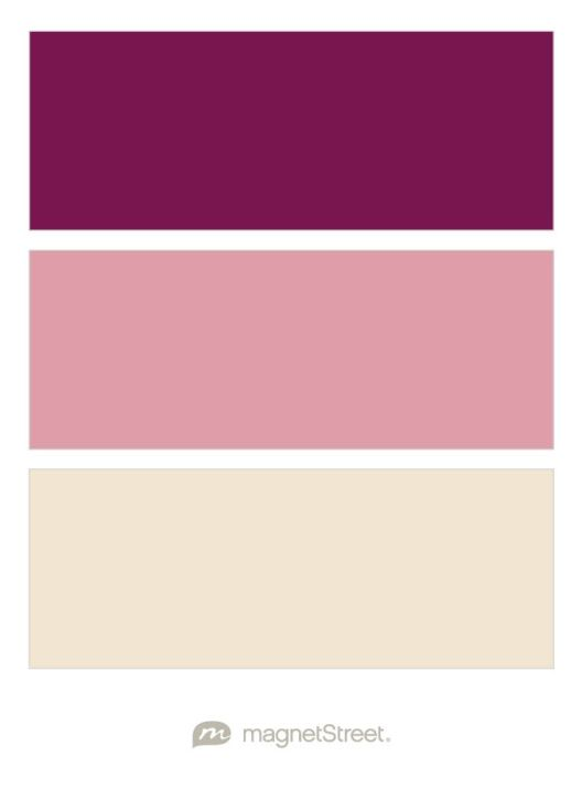 Sangria, Blush, and Champagne Wedding Color Palette - custom color palette created at MagnetStreet.covm