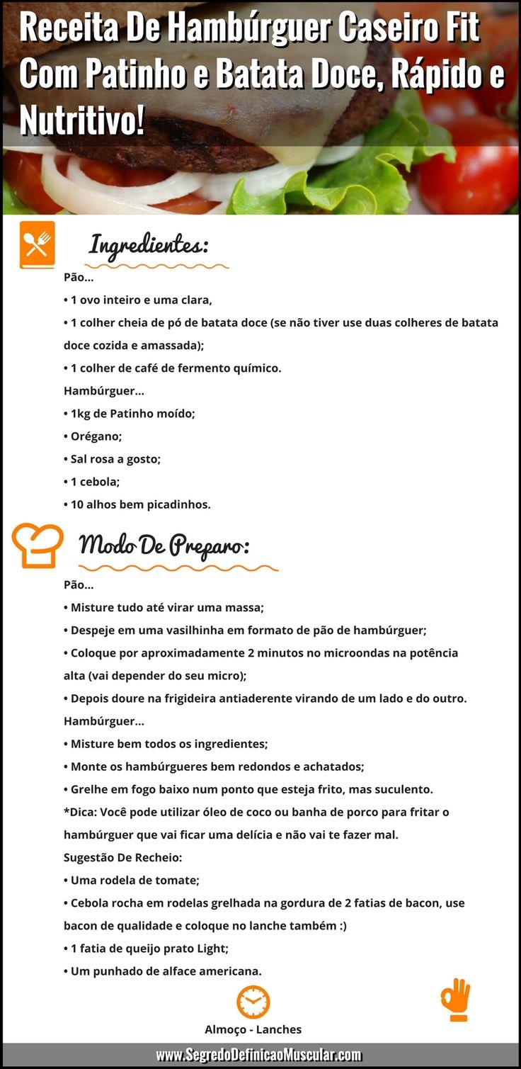 Receita De Hambúrguer Caseiro Fit Com Patinho e Batata Doce ;) ➡ https://segredodefinicaomuscular.com/receita-de-hamburguer-caseiro-fit-com-patinho-e-batata-doce-rapido-e-nutritivo/ Se gostar da receita compartilhe com seus amigos... #receitas #receitasfit #hambúrguer #caseiro #EstiloDeVidaFitness #SegredoDefiniçãoMuscular
