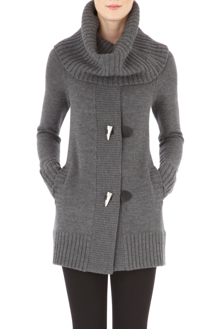 Take chilly days in stride and in style with this women's toggle sweater from Laura Scott. Designed like a classic cardigan, with a V-neck and long sleeves, this marled sweater makes a lovely layering piece.