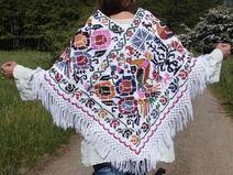 poncho♥PRETTY PEACOCK♥ messicano ethnico hippy