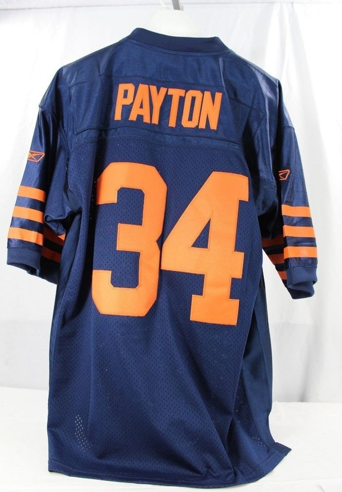 Chicago Bears Walter Payton  34 Blue Jersey Onfield Reebok 52 Stitched   Reebok  ChicagoBears e45686093